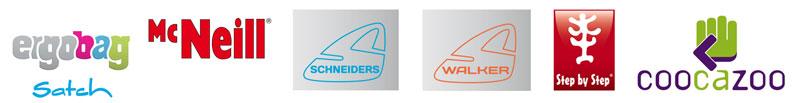 Logos Schultaschen-Marken